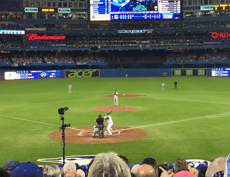 Great seats for the Jays/Yankees game!