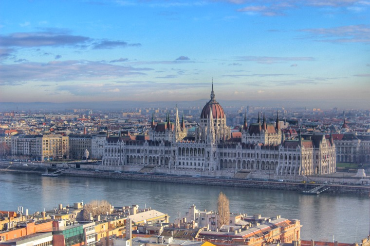 Enjoying the view in Budapest, Hungary