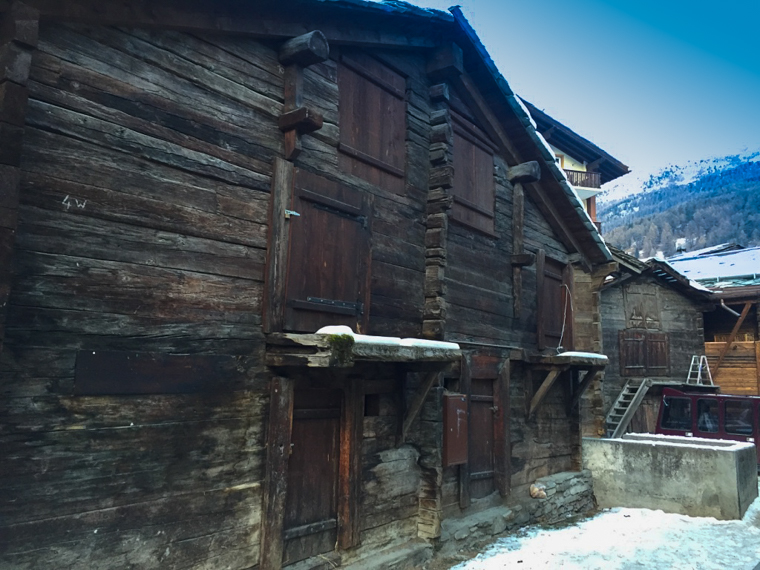 Timber houses in Zermatt