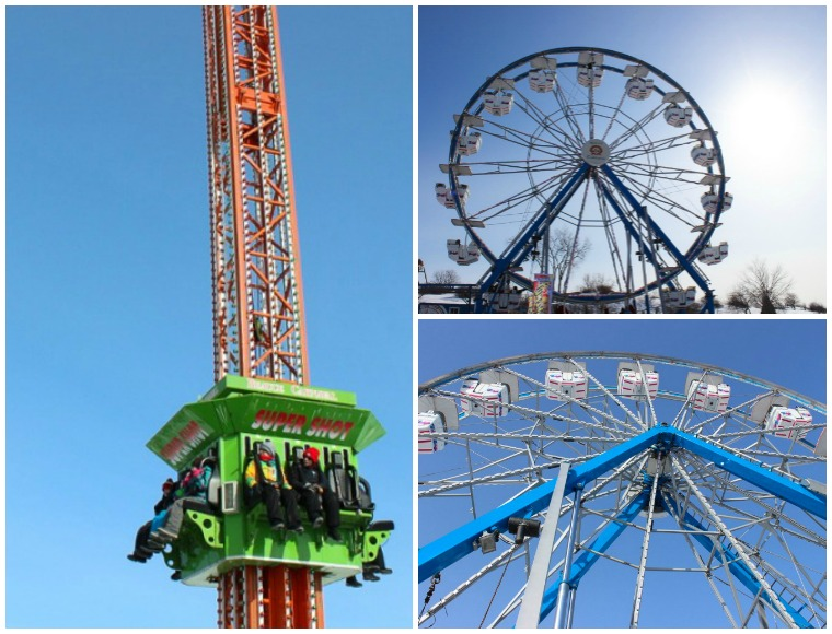 Rides at the Quebec Winter Carnival