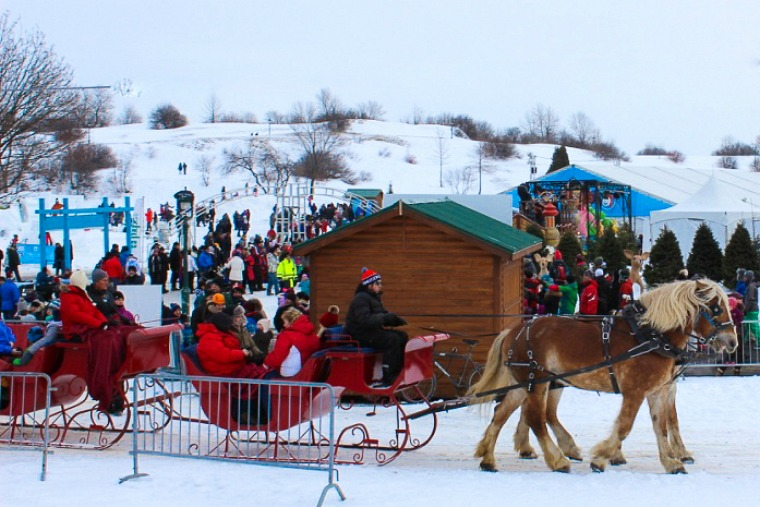 sleigh ride at quebec city winter carnival