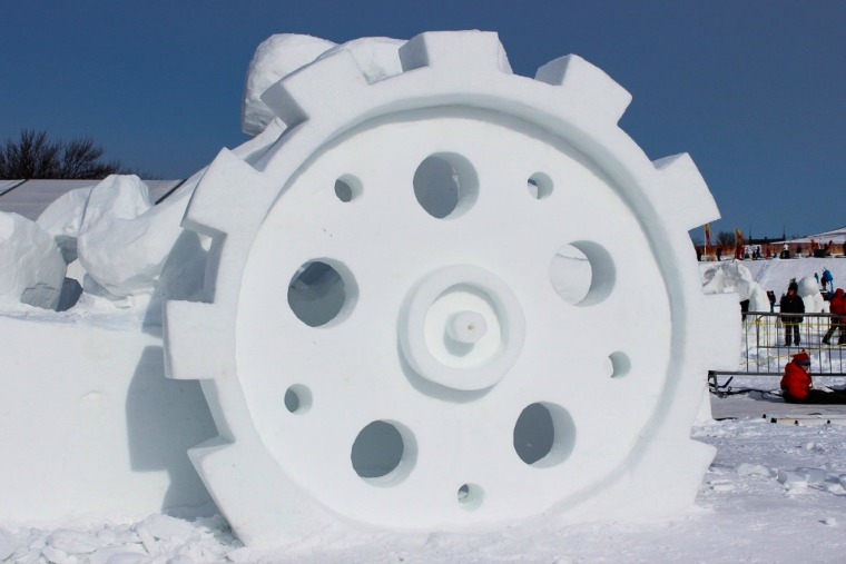 Quebec Winter Carnival Snow sculpture