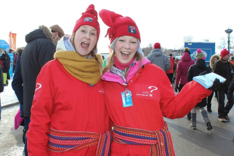 Happy volunteers at the Winter Carnival.