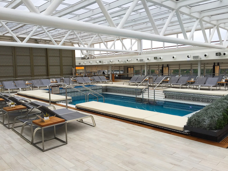 The pool area on Viking Star