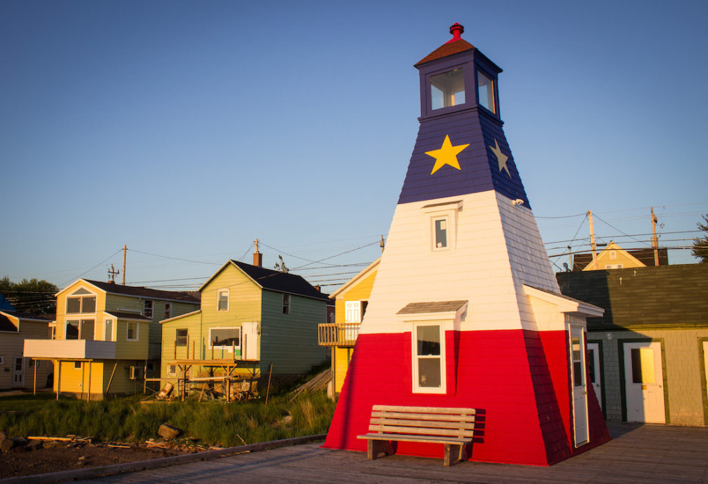 Cheticamp lighthouse, Cabot Trail, Cape Breton, Nova Scotia