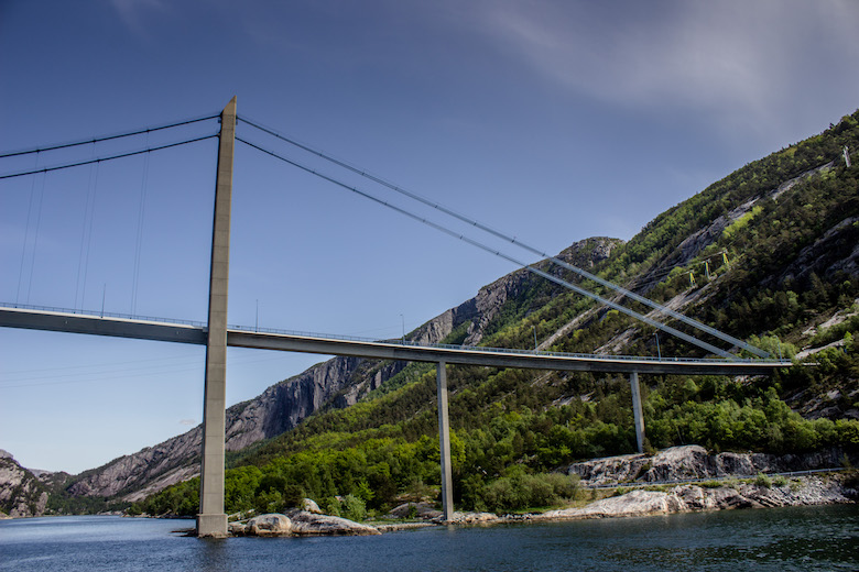 Cruising from Stavanger to Pulpit Rock through Norway's Lysefjord