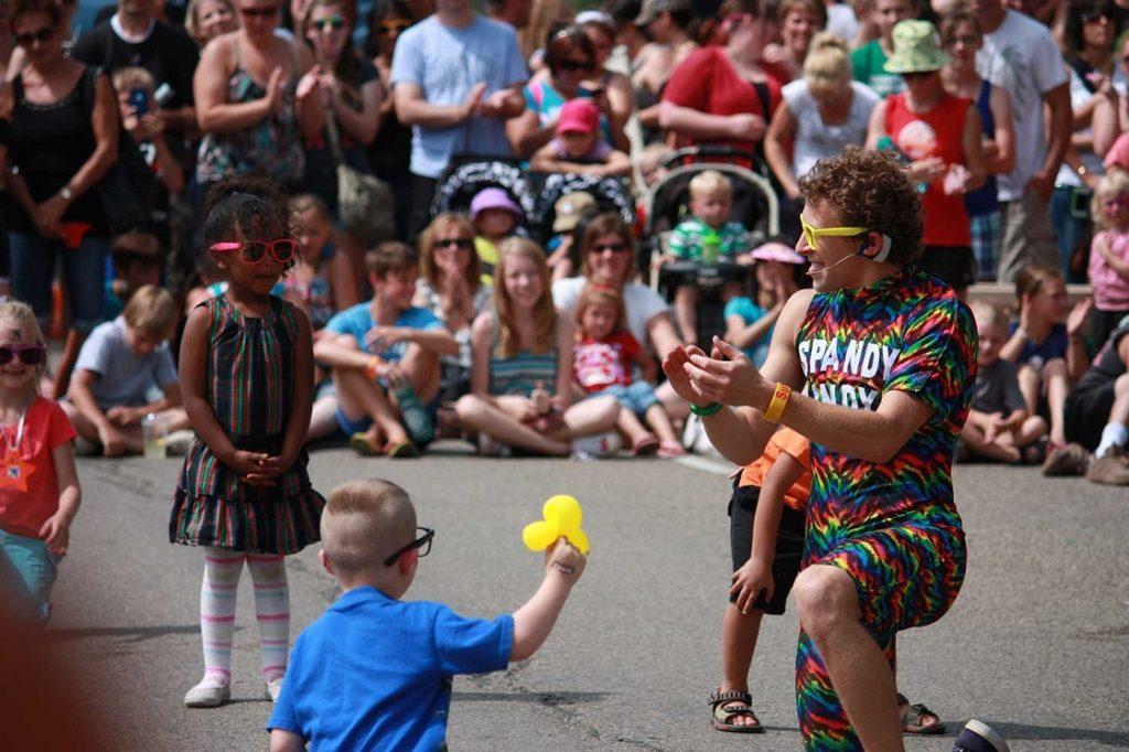 Street performers in Red Deer/Supplied