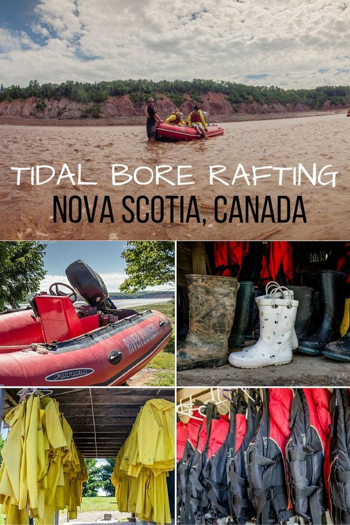 Tidal Bore Rafting in Maitland, Nova Scotia