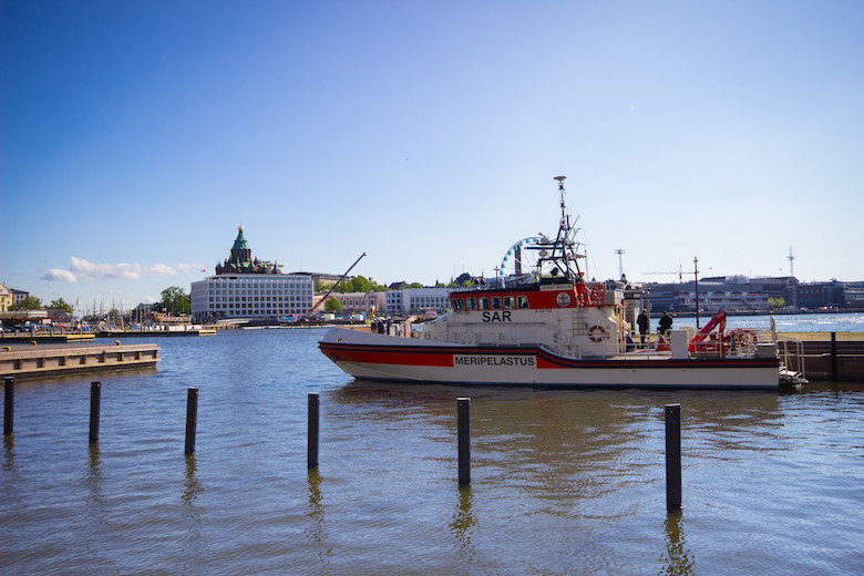 The harbour in Helsinki, Finland