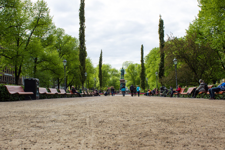 Esplanade Park in Helsinki, Finland