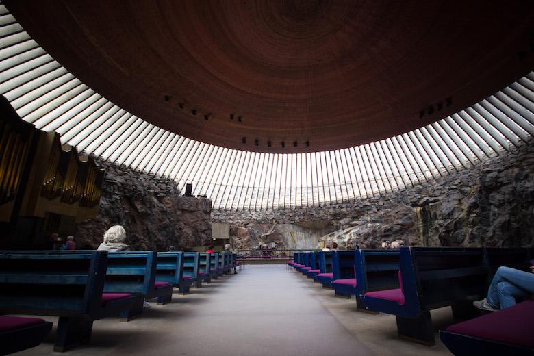Temppeliaukio Kirkko (Rock Church) in Helsinki, Finland