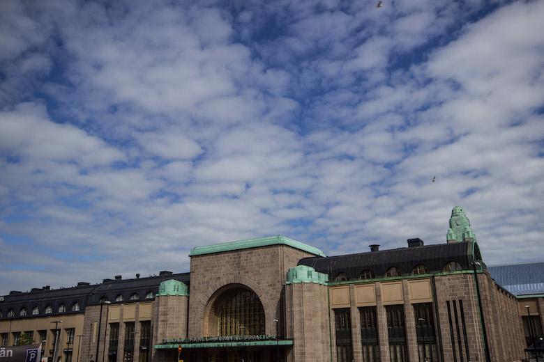 The main train station in Helsinki, Finland