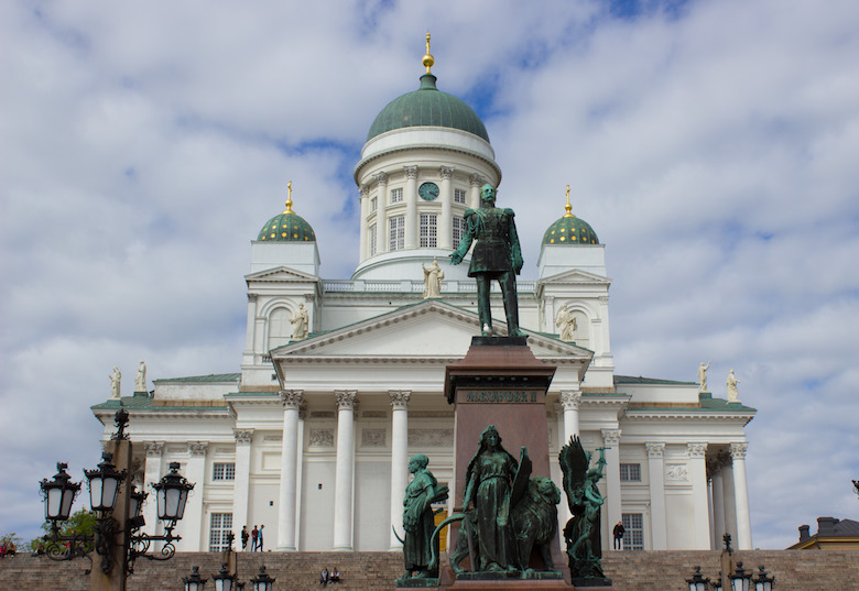 Helsinki Cathedral and Senate Square in Helsinki, Finland