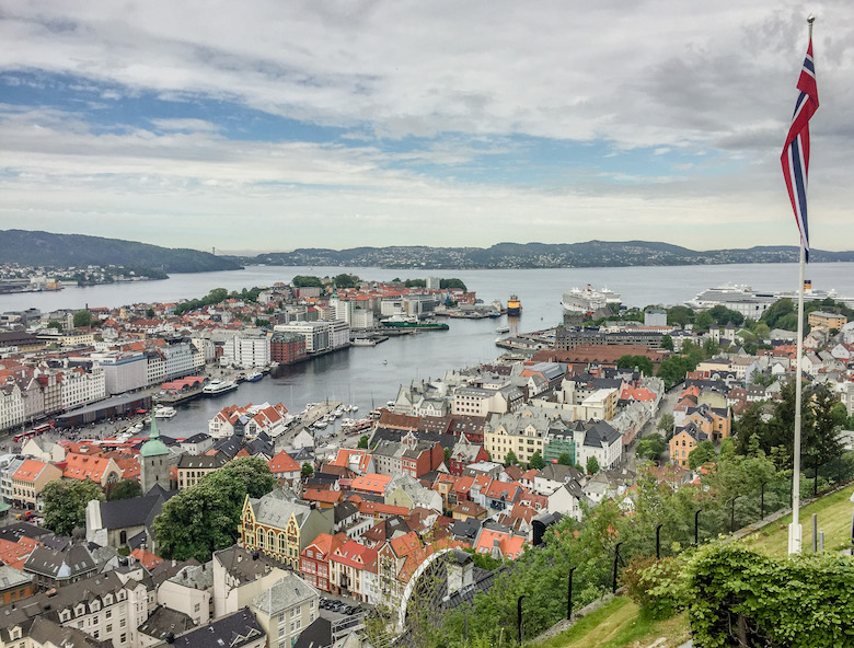 Mount Fløyen in Bergen, Norway