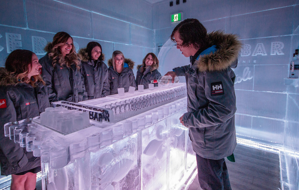 The ice bar in Fernie, BC, Canada