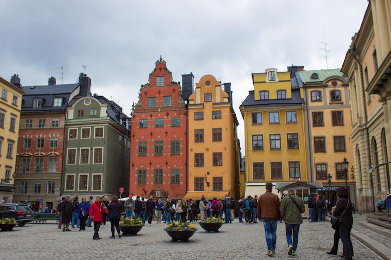 Stortorget in Stockholm, Sweden.