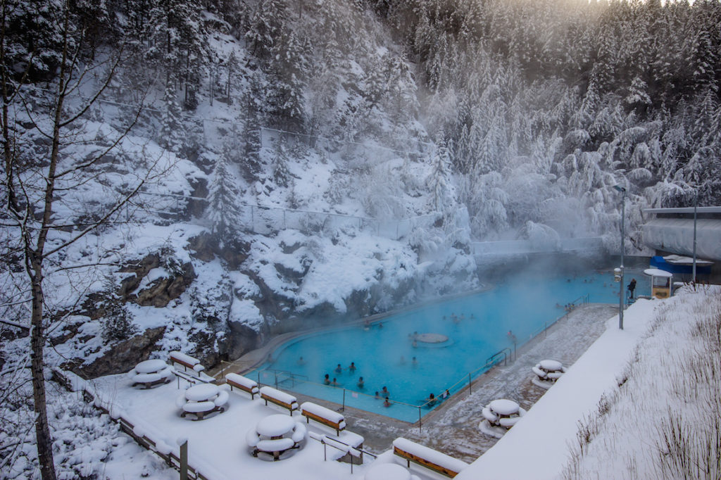 The Radium Hot Springs near Invermere, BC, Canada