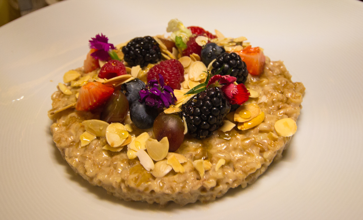 oatmeal breakfast at the Lotte New York Palace Hotel