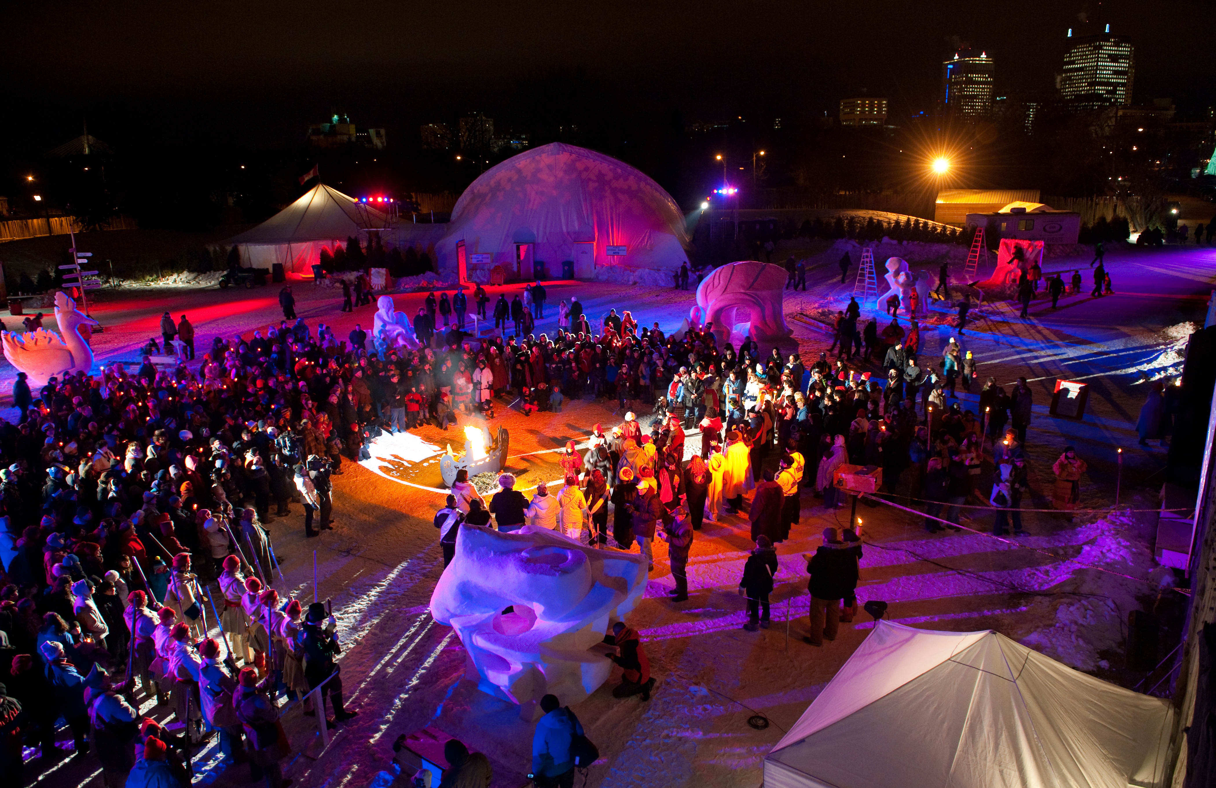 Festival du Voyageur is one of the things to do in Winnipeg in winter