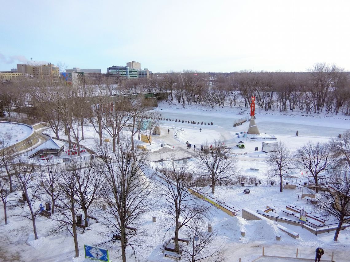 The Forks in Winnipeg, Manitoba. Things to do in Winnipeg in winter