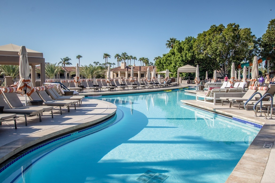 The pool at the Phoenician in Scottsdale, Arizona