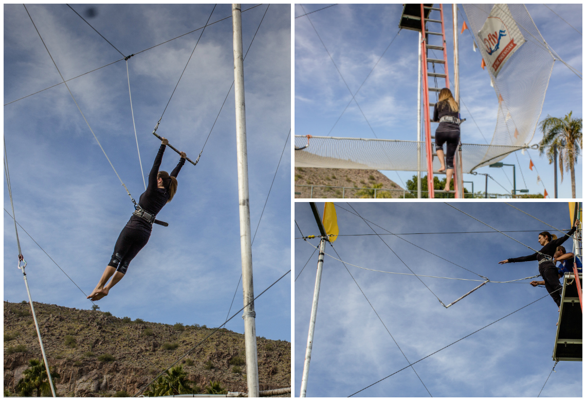 Trying out the I.FLY Trapeze at the Phoenician Resort Scottsdale