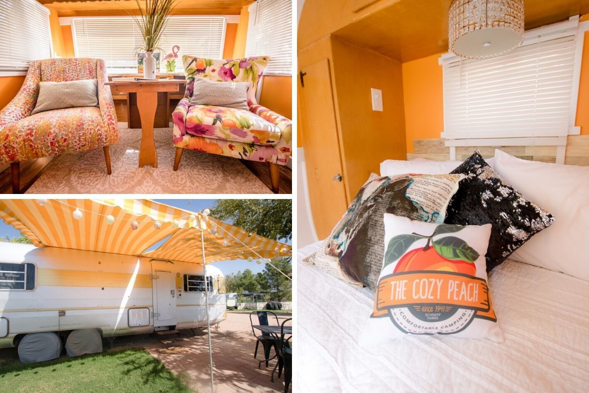The Cozy Peach at Schnepf Farms in Arizona