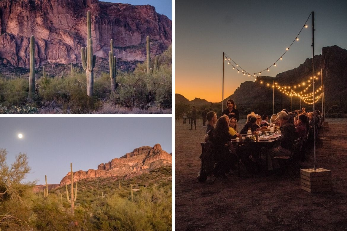 A long table dinner with Cloth & Flame in the Sonoran Desert