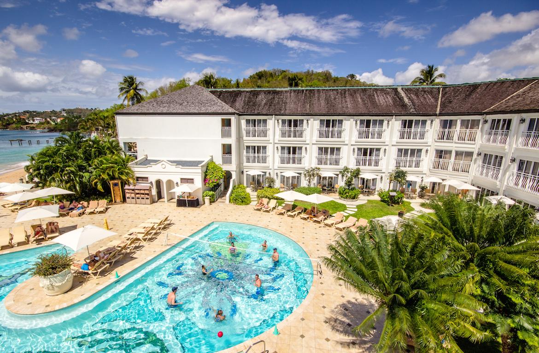 The pool at Sandals Regency La Toc.