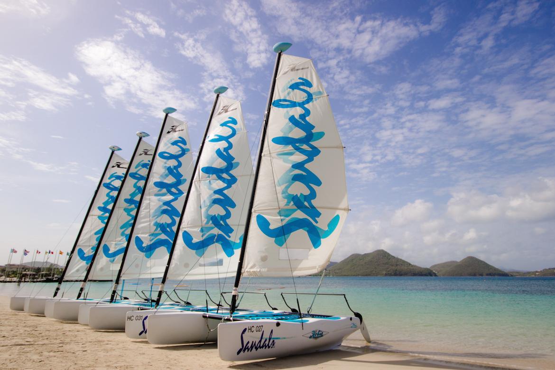 Sail boats at Sandals
