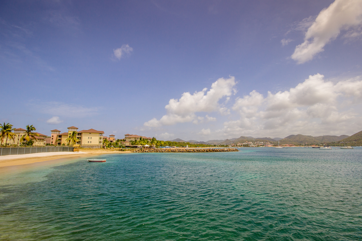 Looking out at Rodney Bay from the Sandals Grande St. Lucian