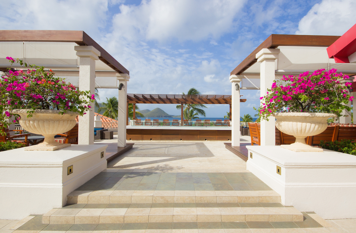 An outdoor area at the Sandals Grande St. Lucian