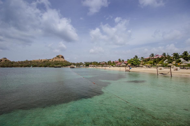 The beach at Sandals Grande St. Lucian.