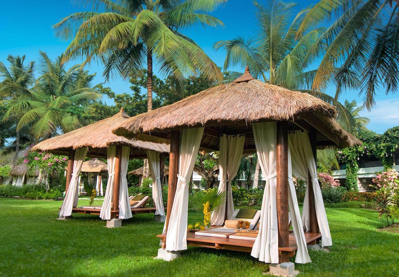 A cabana at Sandals Halcyon Beach