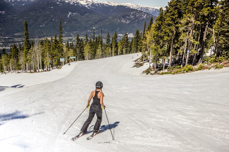Spring skiing at Whistler Blackcomb ski resort