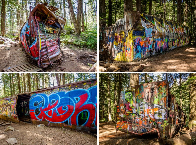 Train Wreck Trail in Whistler, B.C.
