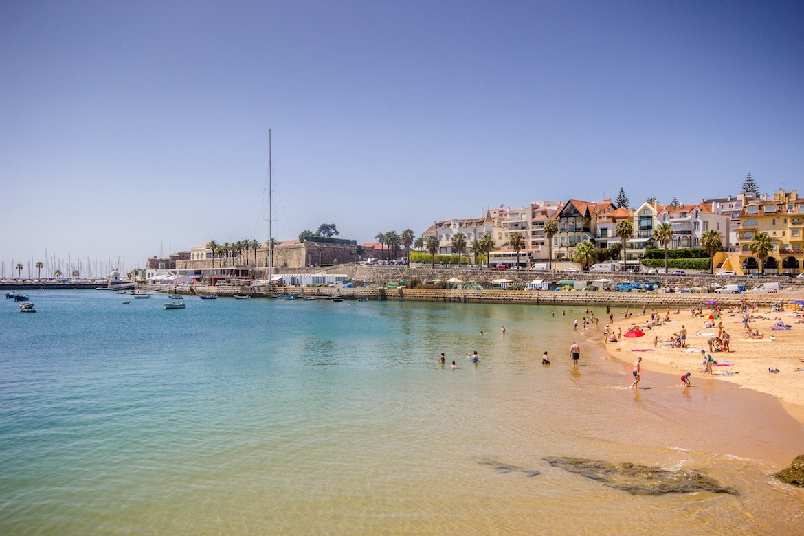 A beach in Cascais, Portugal
