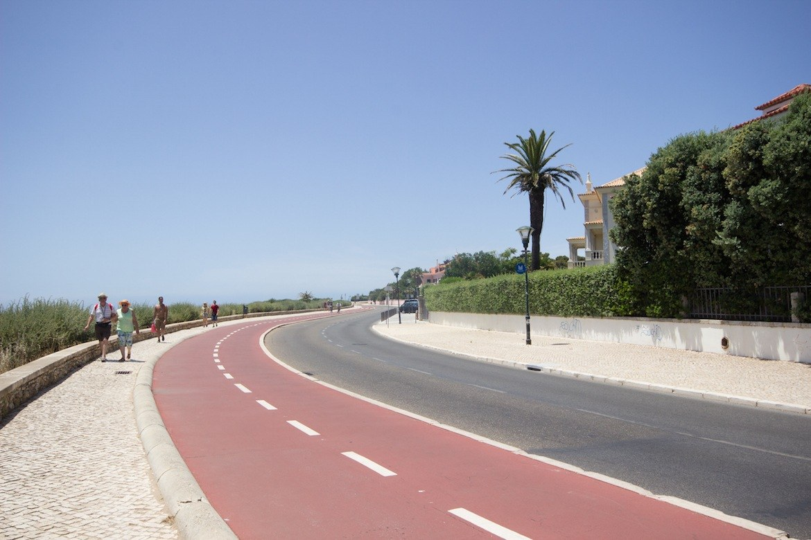 The bike path in Cascais, Portugal