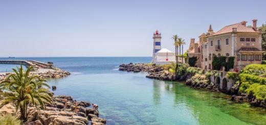 Lighthouse in Cascais, Portugal