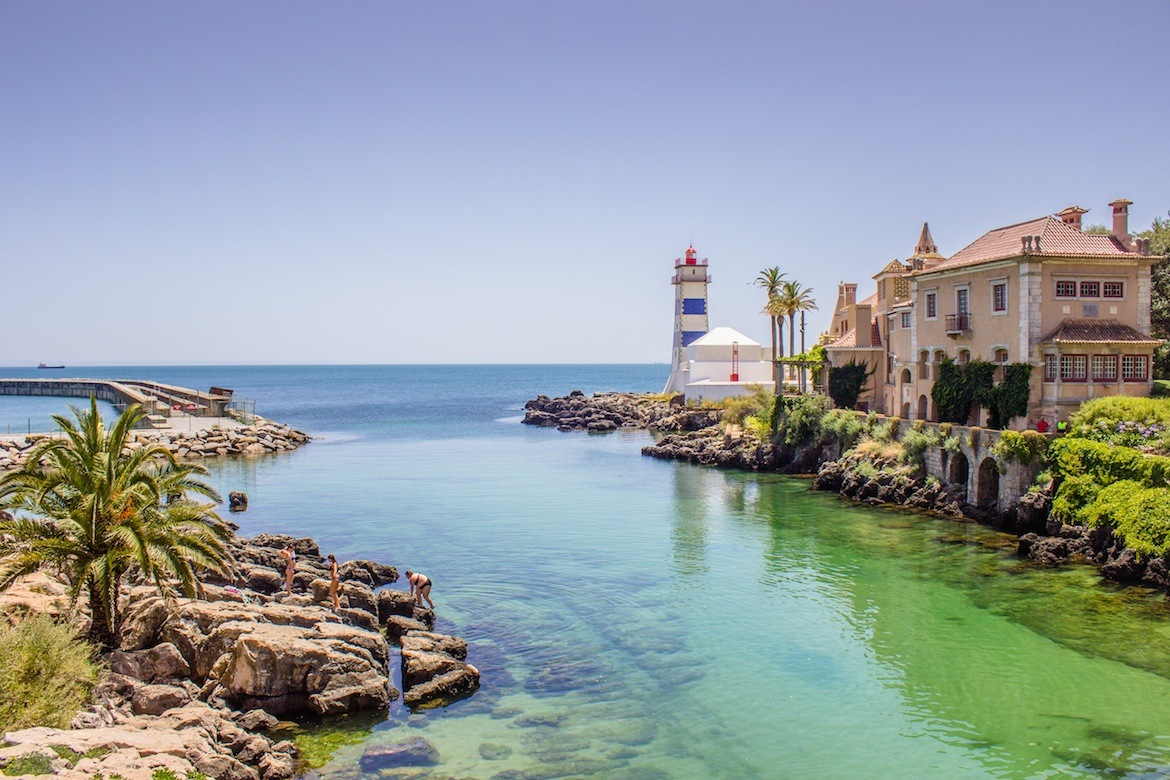 Lighthouse in Cascais, Portugal