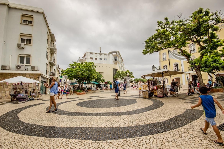 Town centre in Lagos, Algarve, Portugal