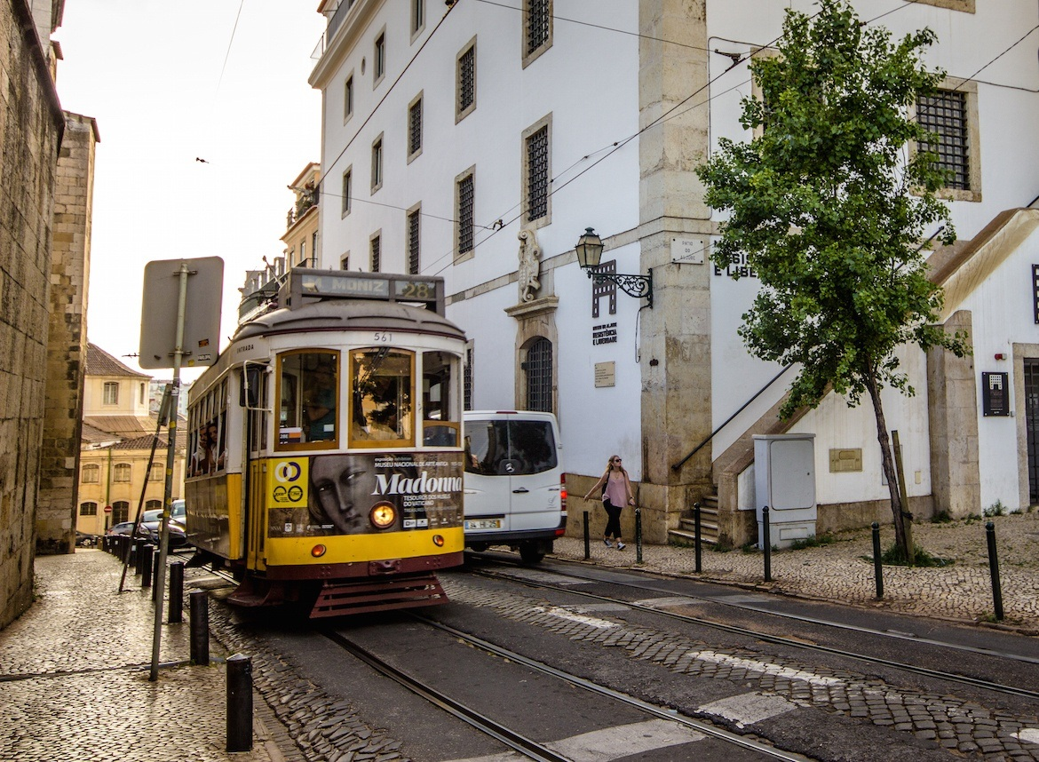 Riding tram 28 is one of the top things to do in Lisbon