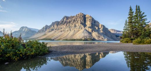 Bow Lake along the Icefields Parkway