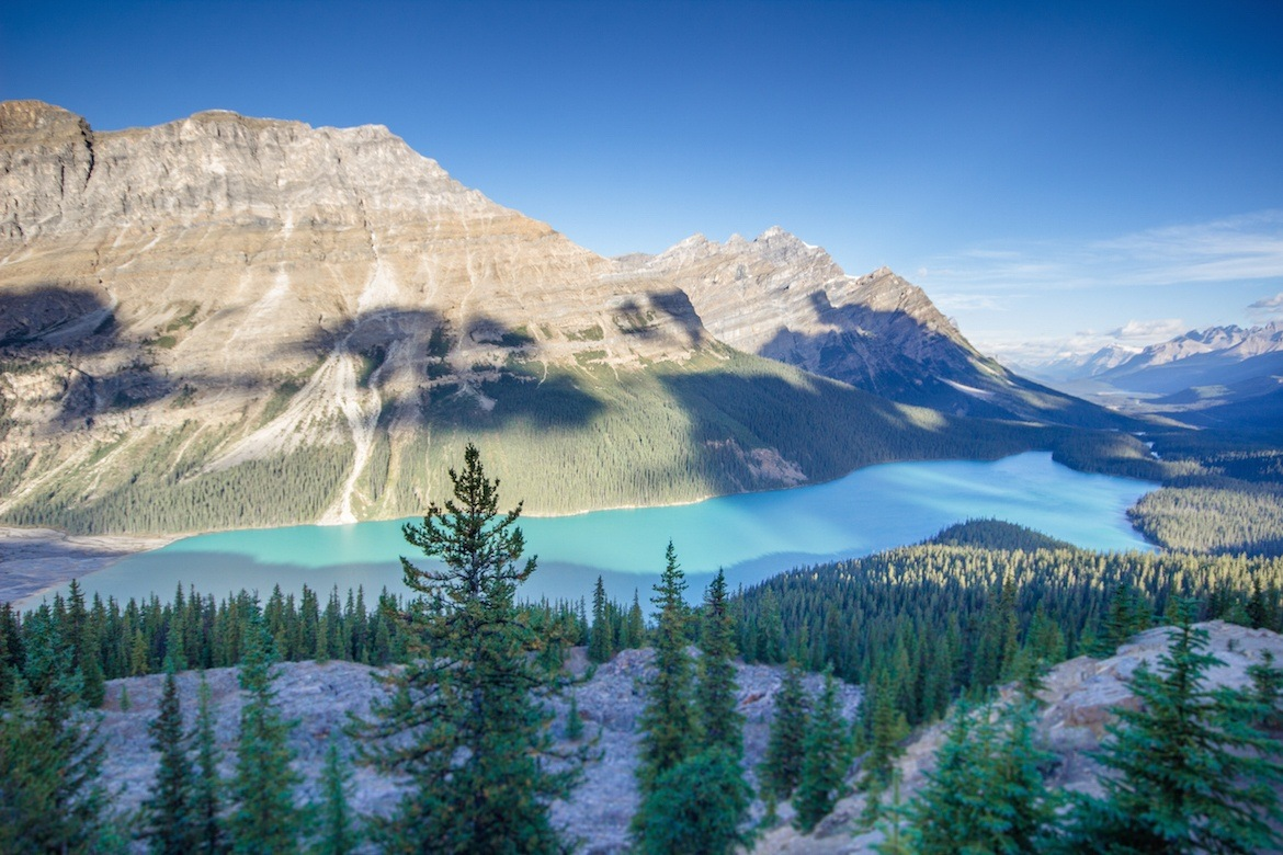 Peyto Lake along the Icefields Parkway