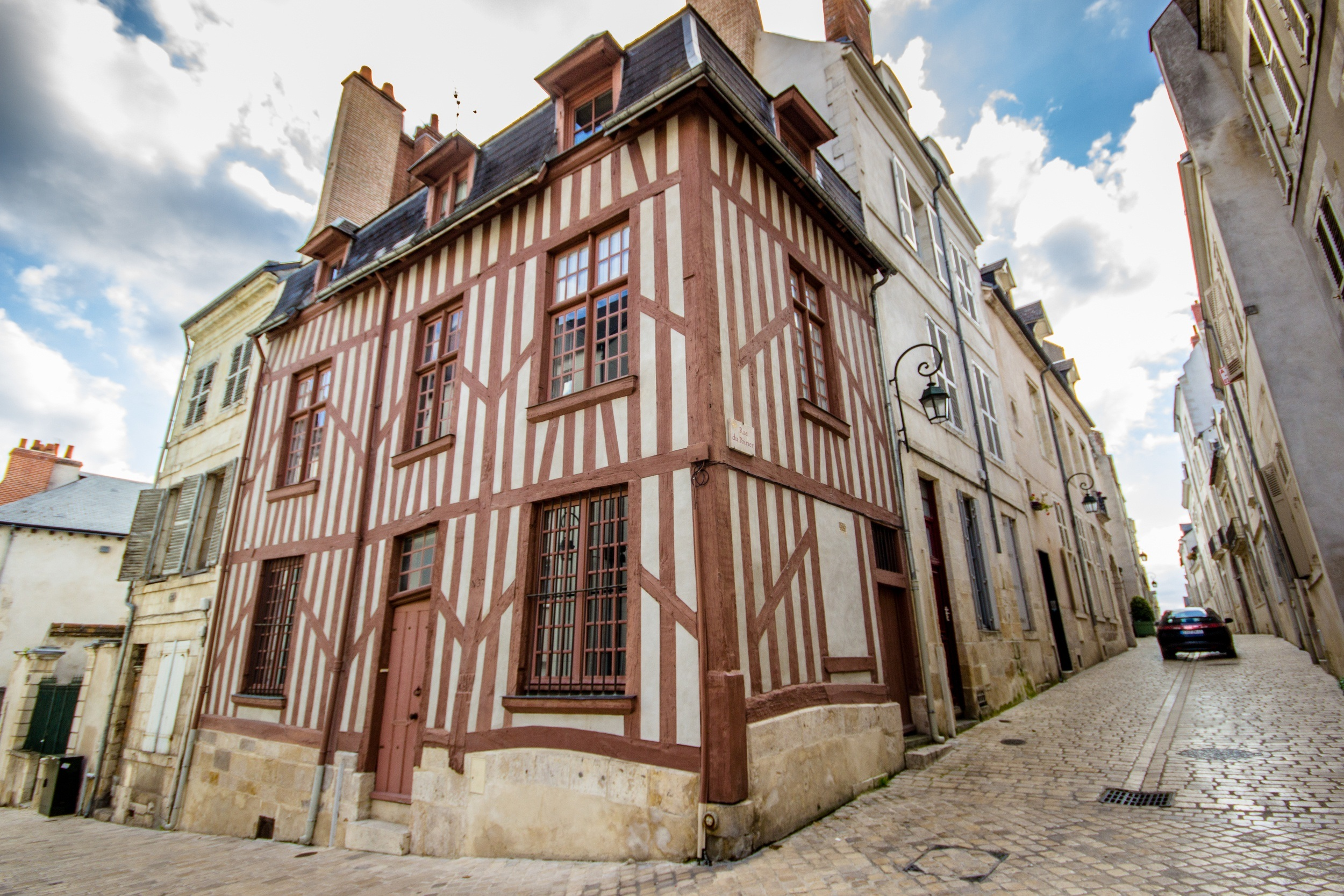 Timber houses in Orleans, France