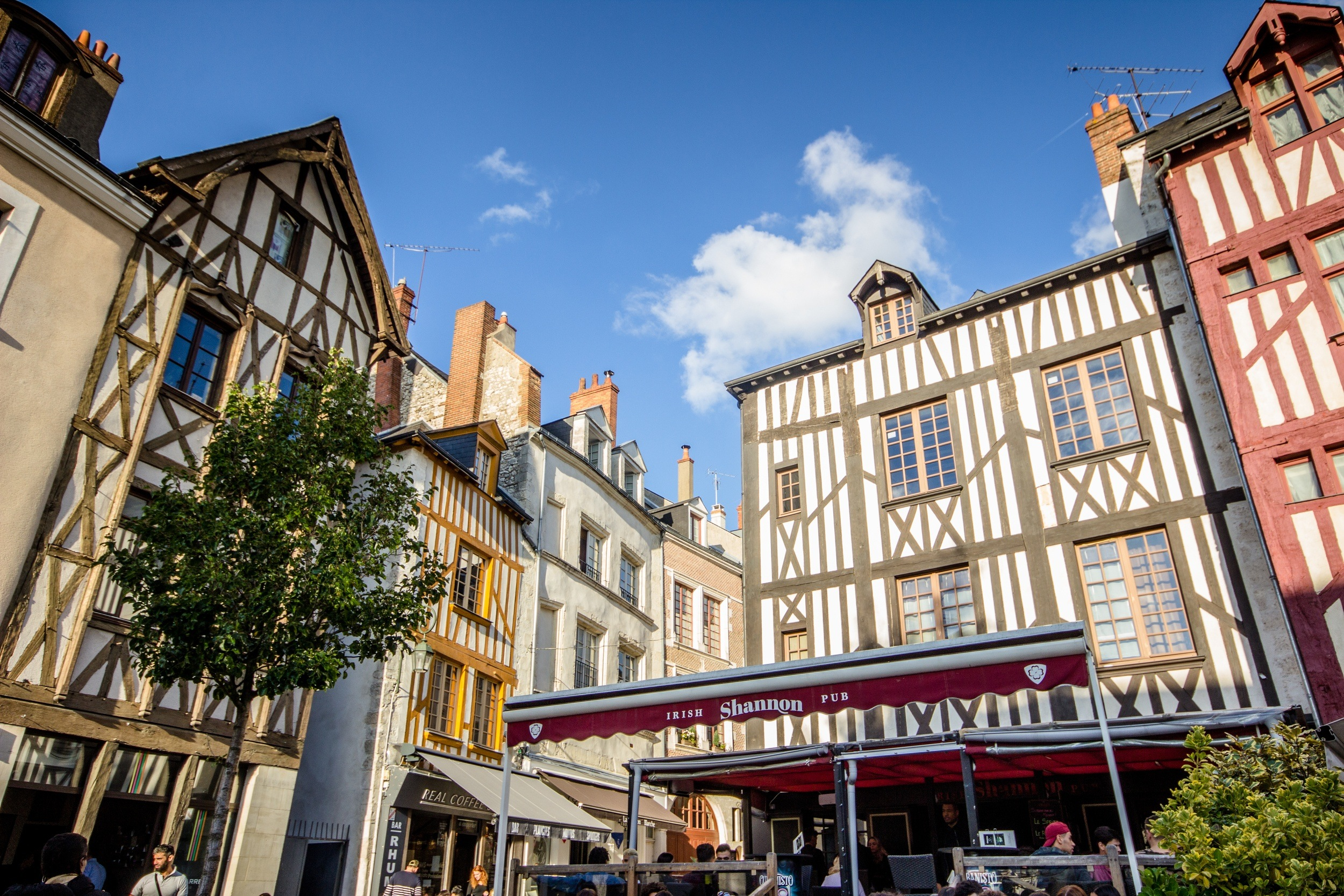 Timber homes in Orleans, France
