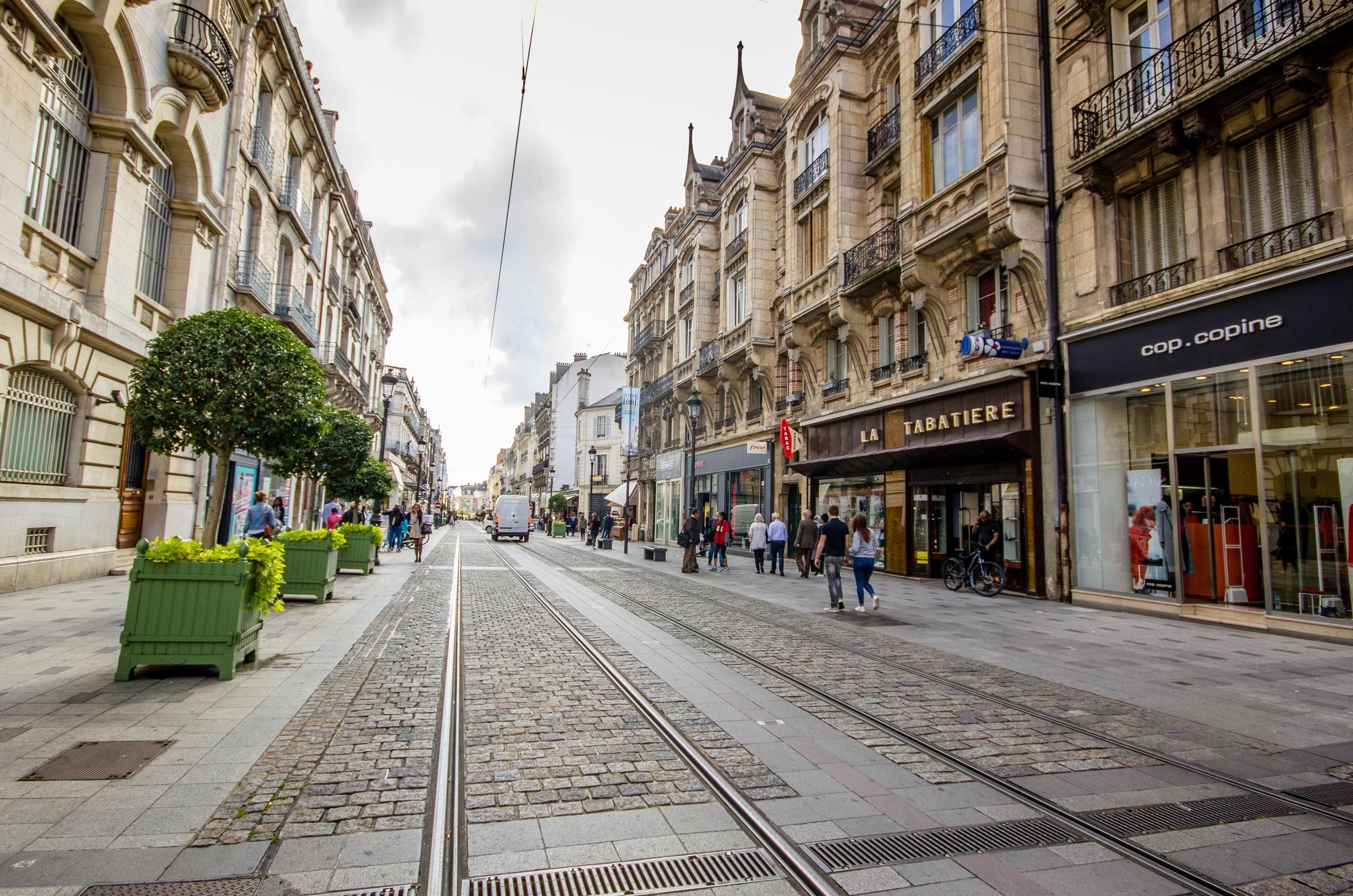 Rue de la République in Orleans, France