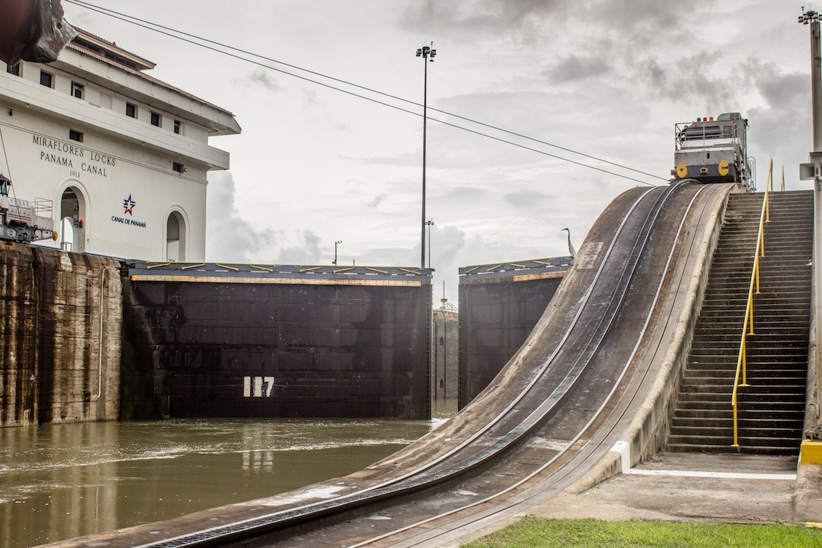 The locks at the Panama Canal