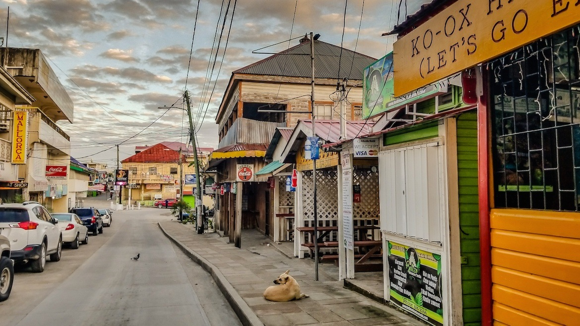 San Ignacio, belize main street. One week Belize itinerary