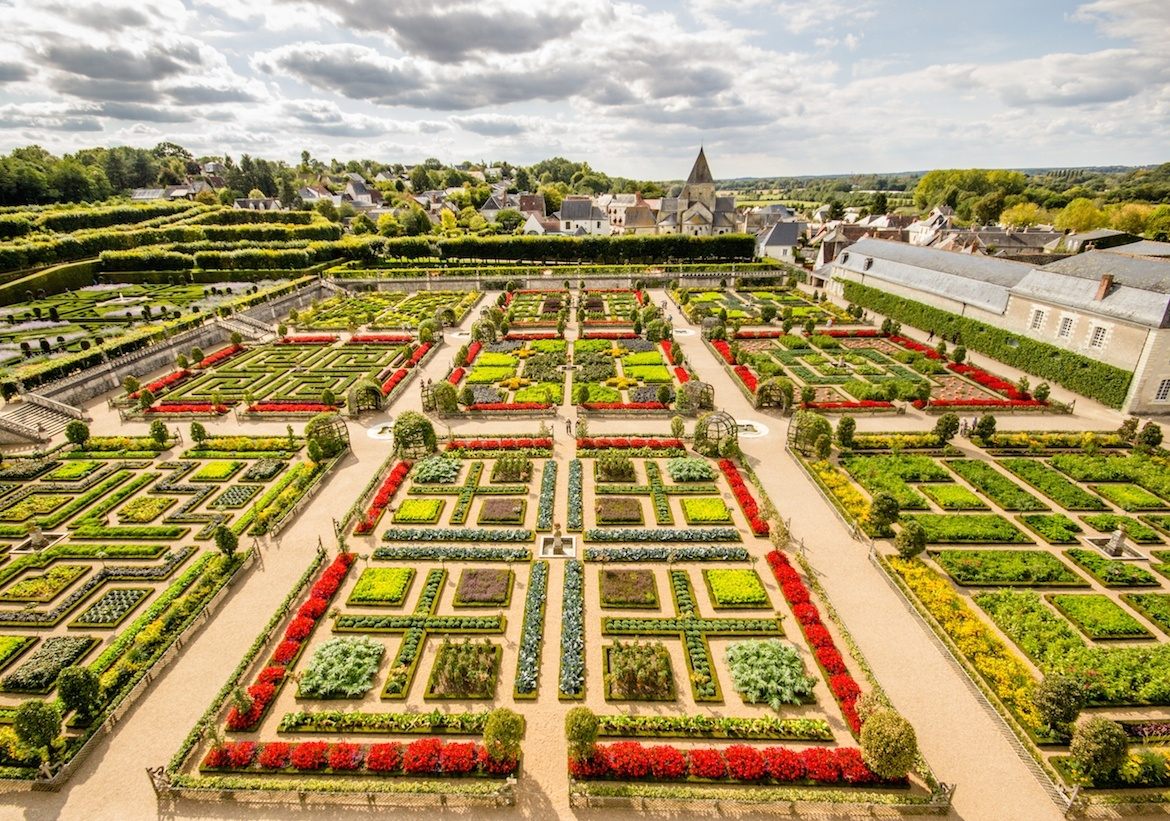 Chateau de Villandry. Loire Valley, France